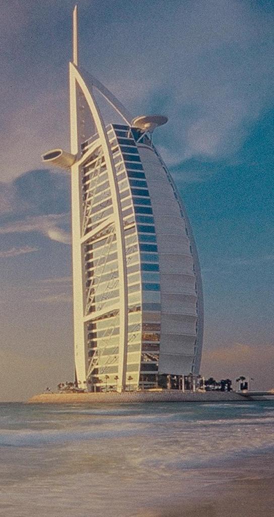 VAE_Dubai_Abendstimmung am Strand mit Blick auf Burj AlArab