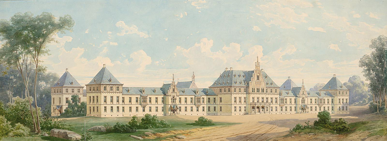 Pichler Oskar (1826-1865): Irrenanstalt, Frankfurt/Main (ohne Dat.)