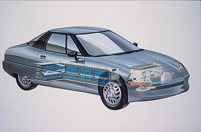GM PR Foto EV 1 Batterieanordnung T-f�rmig
