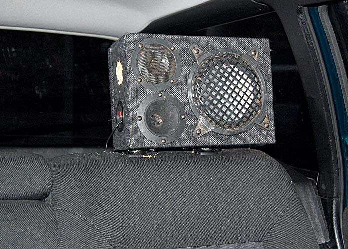 Musicbox als Kopfstütze