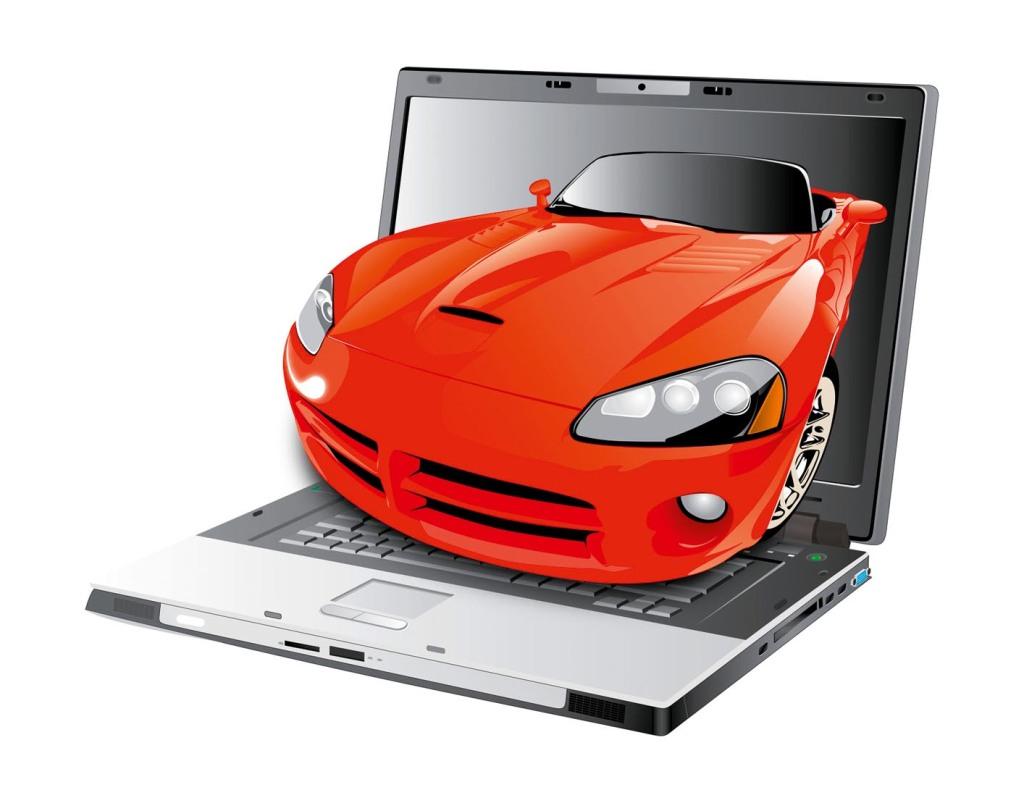 Car & laptop