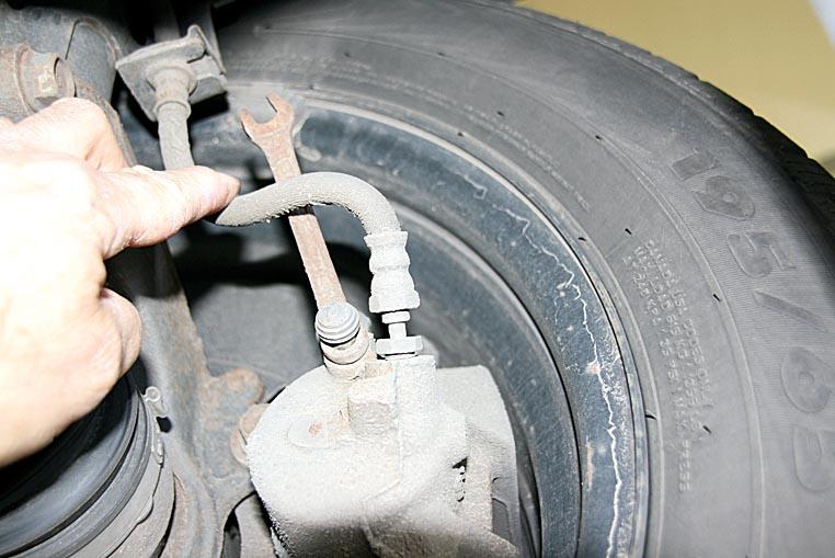 Bremsentlüftung mit vergessenem Werkzeug