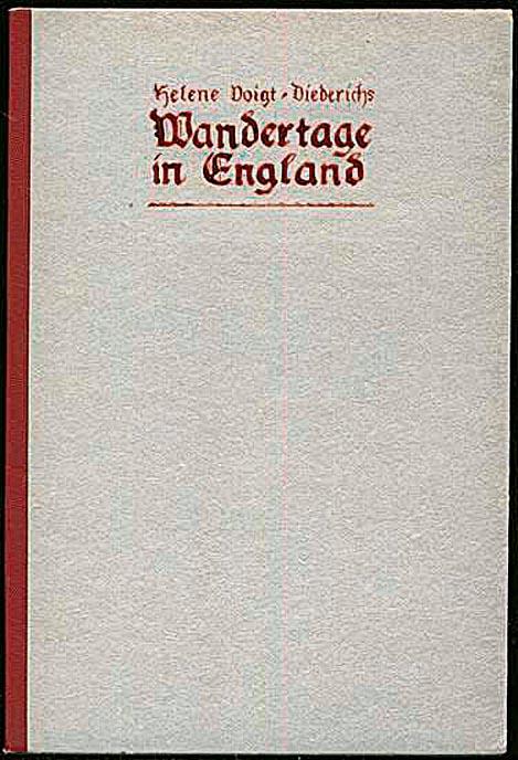 Buchcover Wandertage in England