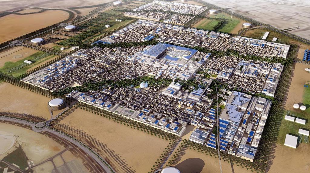 MN 0058 Modell von Masdar City