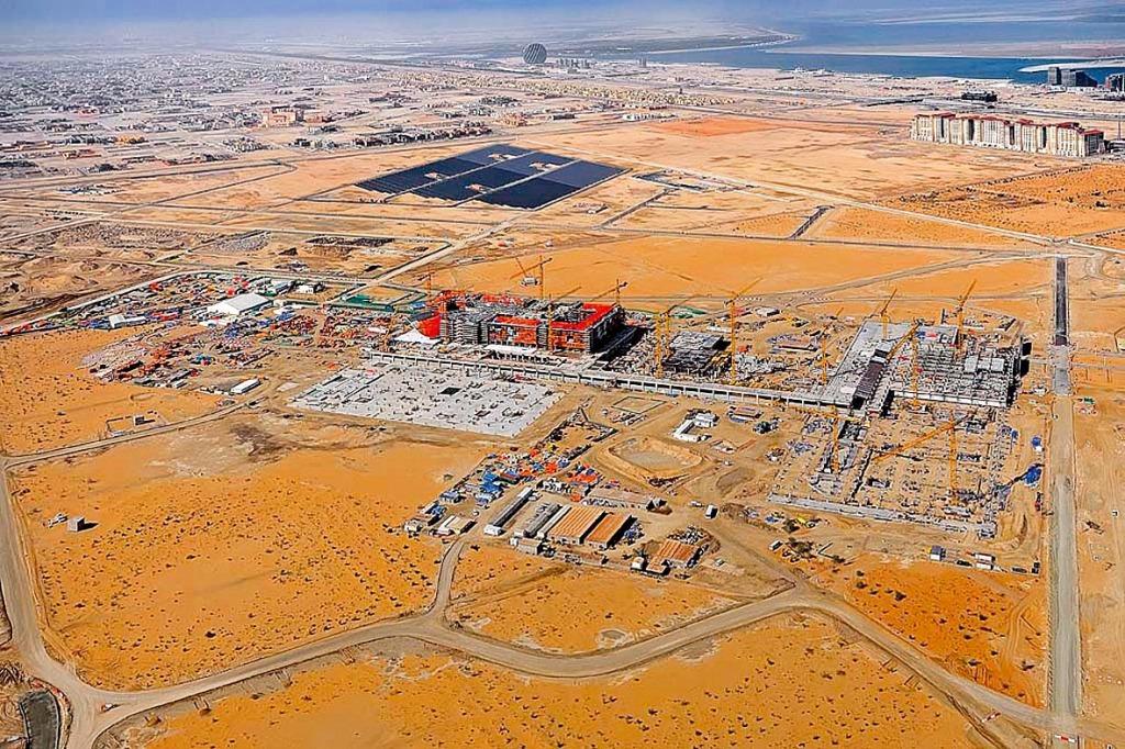 MN 0059 Aus der Vogelperspektive - Masdar City im Bau