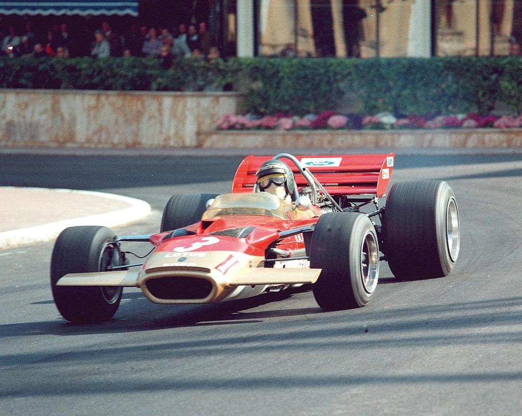 Jochen Rindt Farbfoto Lotus