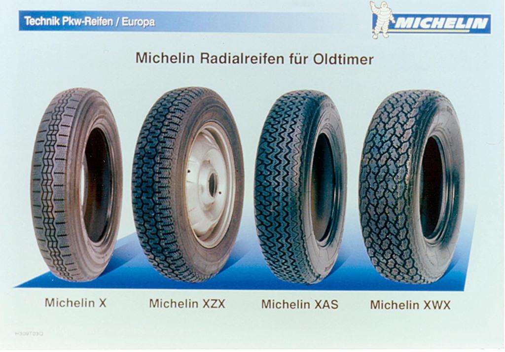 Stahlgürtelreifen_Links der berühmte Michelin X