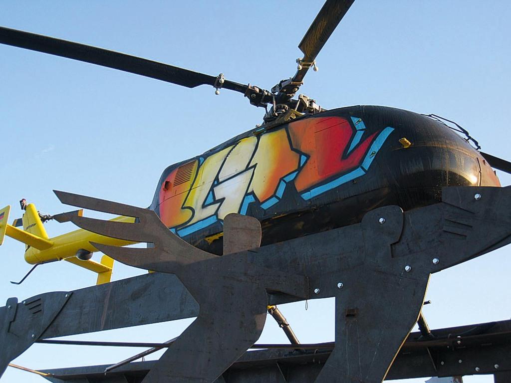zwingend-Hubschrauber Graffiti