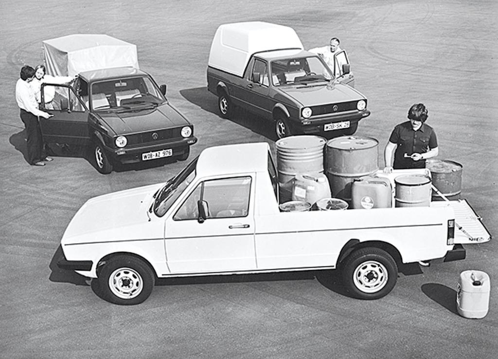 Alle Karosserievarianten des Caddy 1. Serie
