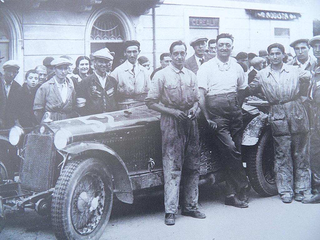 Enzo Ferrari nach seinem letzten Rennen 09. August 1931
