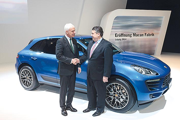 Eroeffnung Porsche Macan Fabrik Leipzig 2014