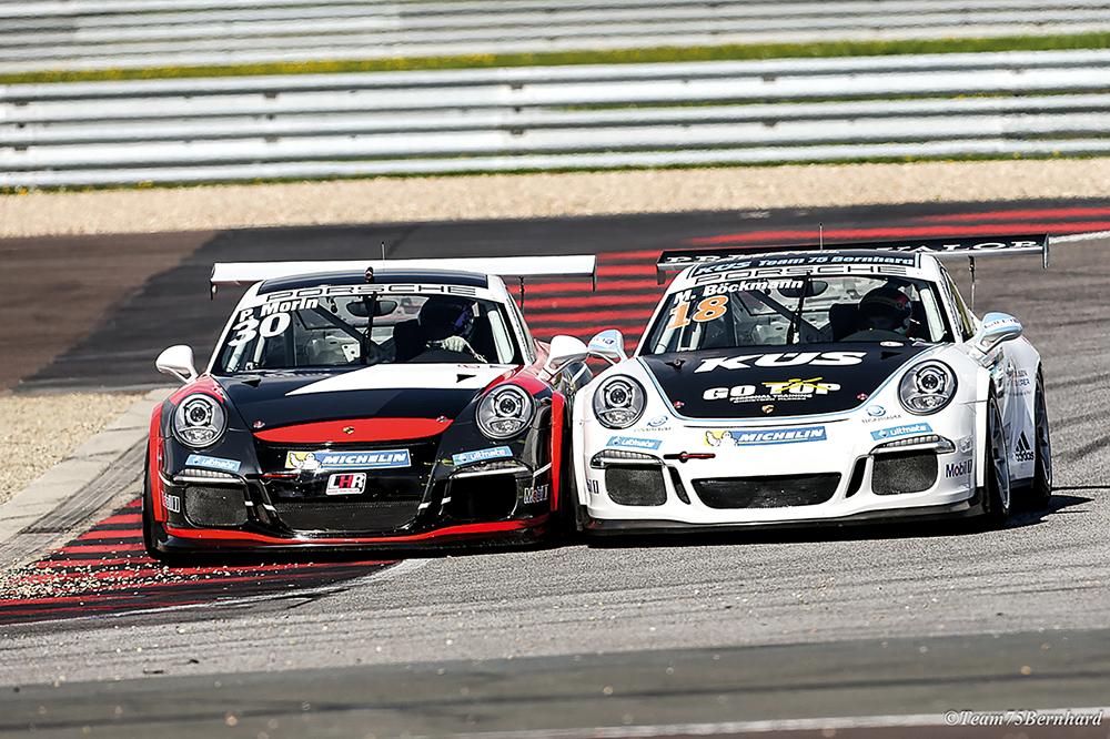 Es geht eng zu im Porsche Carrera Cup Deutschland.