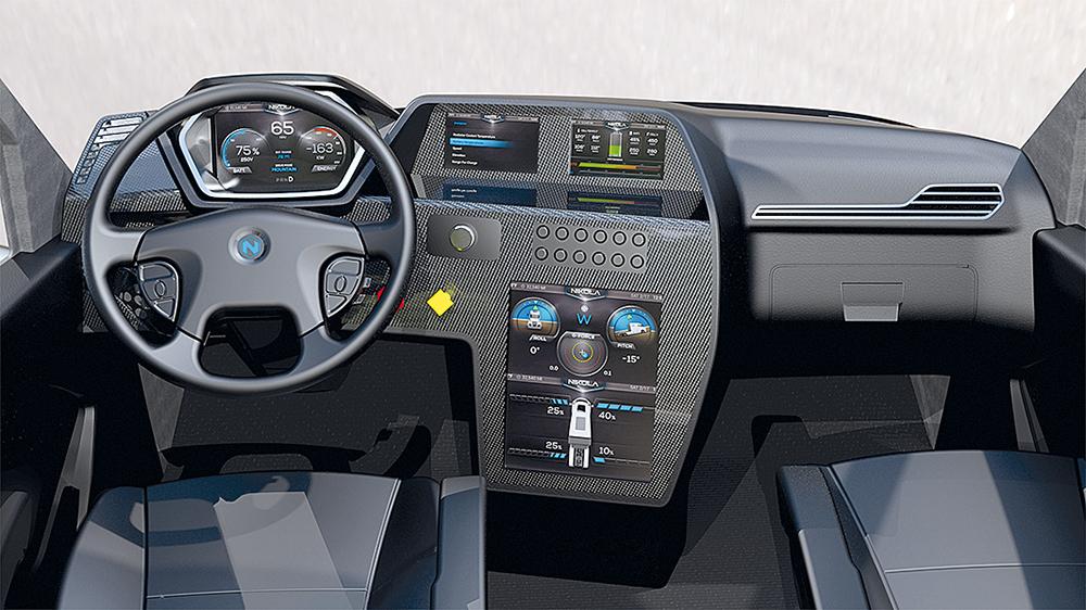 So könnte das Cockpit des Nikola One aussehen