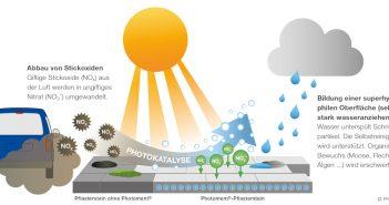 Pflastersteine sorgen für sauberere Luft