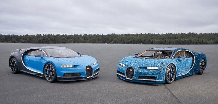 Ein Bugatti Chiron aus LEGO-Steinen